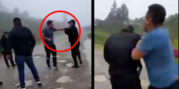 """""""Coyotes"""" agreden a policías en Huehuetenango (VIDEO)"""
